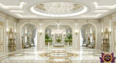 Villa Interior Design in Dubai, Villa design turnkey, Photo 10 Luxury Homes Dream Houses, Luxury Homes Interior, Home Interior Design, Modern Mansion Interior, False Ceiling Living Room, Bedroom False Ceiling Design, Design Bedroom, Hall Interior, Interior Exterior
