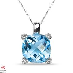 Jet NissoniJewelry presents - Ladies Diamond Accent Pendant and chain with Blue Topaz in 10k White Gold    Model Number:CP-4899W077BT    https://jet.com/product/Ladies-Diamond-Accent-Pendant-and-chain-with-Blue-Topaz-in-10k-White-Gold/86e606a8c8a24d769bf270a8b1705e71