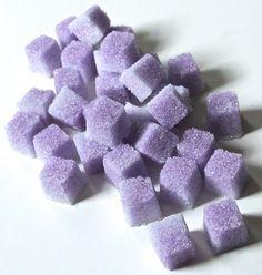 Lavender Flavored Sugar Cubes for Champagne Toasts,Tea Parties, Favors, Tea, Coffee, Lemonade, Berries