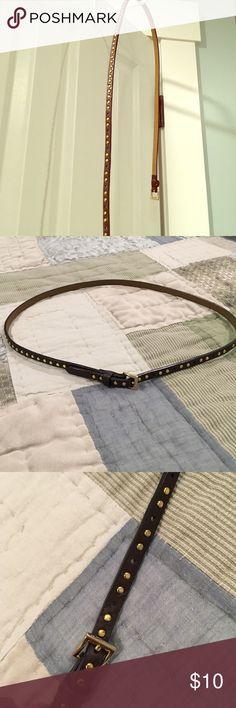"J. Crew studded brown belt Skinny studied brown belt by J. Crew. 36"" long. J. Crew Accessories Belts"