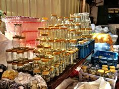 Quick Post: The Closest One Can Get To Mason Jars in Divisoria Glass Jars, Mason Jars, Recycled Jars, Art And Craft Materials, Shop Around, Manila, Things To Buy, Craft Stores, Wedding Favors