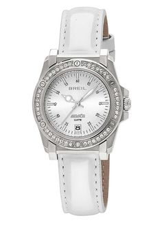 Home Breil Milano Ladies Watch Watches Online, Stainless Steel Case, Cool Watches, White Leather, Jewels, Crystals, Lady, Accessories, Ladies Watches