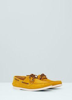 Bőr vitorlás cipő   MANGO MAN