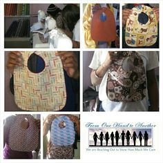 Women rebuilding their lives in shelters    support their community by making bibs for teen moms.