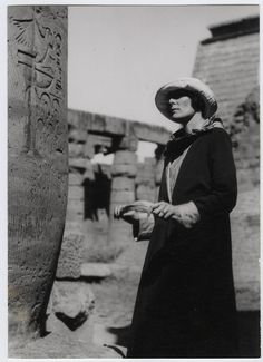 """H.D. in Egypt, 1923~ H.D. (Hilda Doolittle) was primarily a poet who was present at the opening of King Tut's tomb. The hieroglyphs and treasures of a world more ancient than Greece fascinated H.D., who turned repeatedly to Egypt as a symbol for the sacred, in works such as Palimpsest, """"Pilate's Wife,"""" Trilogy, and Helen in Egypt."""