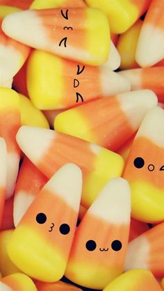 ↑↑TAP AND GET THE FREE APP! Food Сolorful Sweet Candy Cute Yellow Orange Funny HD iPhone 6 Wallpaper