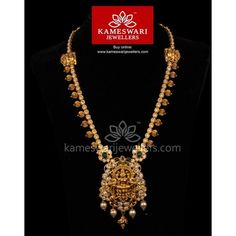 CZ Pachi Mahalakshmi Divine Necklace We ship across and Call/Whatsapp us on Gold Jewellery Design, Gold Jewelry, India Jewelry, Antique Jewellery, Cz Jewellery, Designer Jewellery, Gold Bangles, Vintage Jewelry, Unique Jewelry