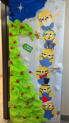 A Minion Christmas Door