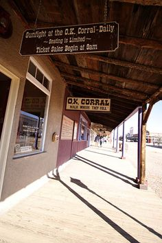 Tombstone Arizona..went here twice.  Interesting place.