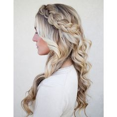 50 Cute Braided Hairstyles for Long Hair - Hair Styles DIY Wedding Hair Down, Wedding Hair And Makeup, Hair Makeup, Hairstyle Wedding, Makeup Hairstyle, Wedding Hair With Braid, Prom Makeup, Wedding Beauty, Wedding Hairstyles With Braid