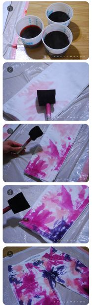 DIY Colorful tie dye!