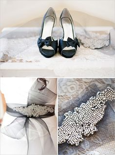 My sash & my wedding shoes...except mine are red :)