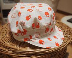 100均手ぬぐいで作る簡単キャスケット帽子の作り方