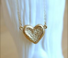 Textured Heart Pendant by illuminancejewelry