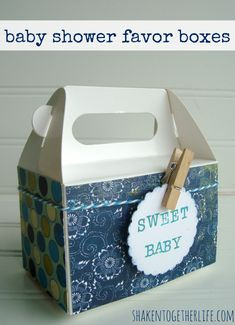 "Easy ""sweet baby"" baby shower favor boxes & DIY baby shower ideas   shakentogetherlife.com"