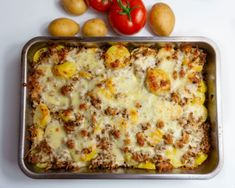 Potato and mince casserole with feta curd - kochen - Bacon Cheeseburger Meatloaf, Baking Basics, Delicious Dinner Recipes, Pampered Chef, Veggie Recipes, Smoothie Recipes, Food Inspiration, Tortellini, Macaroni And Cheese