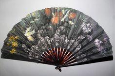 Summer flowers by Gérard, Duvelleroy fan, late century Hand Held Fan, Hand Fans, Antique Fans, Walking Sticks, Summer Flowers, Basic Colors, Beautiful Hands, Breeze, Favorite Color
