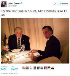 97b95f84292ebd633576429080ead464 dinner meme photo twitter trump romney dinner date on tuesday night provides fodder for memes