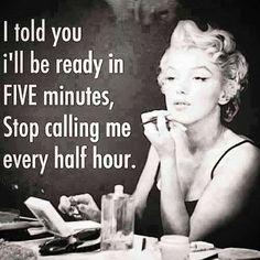I said 5 more minutes!! ;)