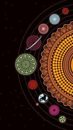 Mandala zum ausmalen sonnensystem