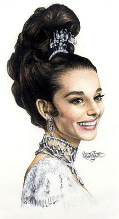 Audrey Hepburn 138colored penc by Ethan-Carl on DeviantArt
