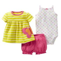 Carter's Butterfly Top Set - Baby