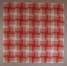 Åsa Nylander: designer | Vivi-Ann Persson: weaver | tablecloth | linen: unbleached + red + white | 8-shaft | Sollefteå, Sweden | 1985