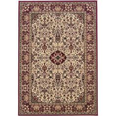 Couristan Everest Ardebil Rug, Ivory/Red