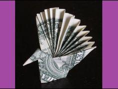 ▶ DIY How to Fold $1 Money Origami PEACOCK - Dollar (Easy) - YouTube
