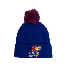 los angeles 9adaa 93bee Zephyr Kansas Jayhawks College XRay Pom Beanie Hat, Adult Unisex, Blue  ( 4.99) ❤ liked on Polyvore featuring accessories, hats and zephyr hats