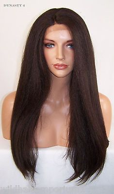 USA Yaki Dark Brown # 4 Lace Front Wig Heat OK Iron safe Long Straight Yaky Dyn Lace Front Wigs, Dark Brown, Iron, Cosplay, Usa, Hair, Beauty, Irons, Cosmetology