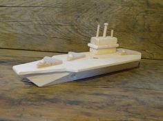 Wood Toy Aircraft Carrier Wooden Toys Matchbox Planes Boat Ship Eco Friendly Toy…