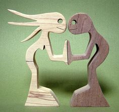 wooden sculpture drawn by myself manually cut to the scroll saw hand-sanded height: 11 cm width: 12 cm thickness: 2 cm wood: Maple original drawing Animal Projects, Wood Projects, Wooden Crafts, Diy And Crafts, Wood Sculpture, Sculptures, Wooden Man, Intarsia Woodworking, Wooden Shapes
