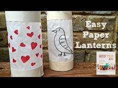 How to Make an Easy Paper Lantern - YouTube