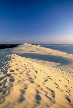 "La dune du Pilat (Pyla) - ""Arcachon - FRANCE - "" One of the most amazing places I'd been Wonderful Places, Beautiful Places, Amazing Places, Places To Travel, Places To See, Le Pilates, Bordeaux France, Hidden Beach, France Travel"