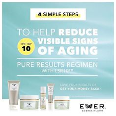 4 simple steps to reduce 10 signs of aging!
