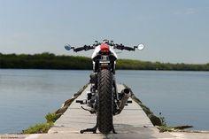 Yamaha XV920 Cafe Racer Back Side