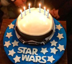 May the force be with you! Happy Birthday, Birthday Cake, Heraklion, Starwars, Birthday Candles, Make It Yourself, Sweet, Desserts, Food