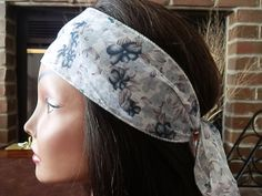 Boho Flower fabric wrap Gray Reversible by myfashioncreations, $11.99