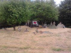 Passo del Giogo, ricostruzione di un campo di battaglia della 2ª Guerra Mondiale.. accampamento americano.
