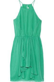 Feeling Good silk chiffon mini dress by Net A Porter on HavetoHave.com