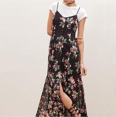 Trend Alert: Slip Dress over T-shirt