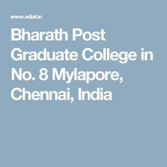Bharath Post Graduate College in No. Distance Education Courses, Chennai, Graduation, College, India, Number, Phone, University, Goa India