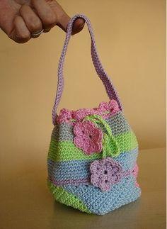 Universo da Moda & Cia.: Bolsa - saco de crochê: It bag feita à mão!