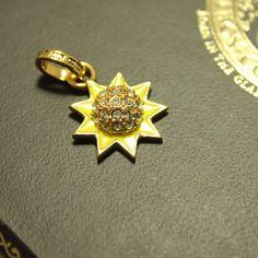 juicy enamel glaze craft inlay the Czech crystal drill yellow sunny pendant ESC019084