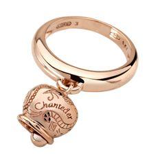 chantecler oro rosa 9kt -10% anello una campanella piccola cod 30214