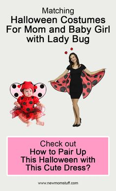 Matching Halloween Costumes For Mom and Baby Girl with Lady Bug Check out how to pair up this Halloween with this cute dress? Matching_Halloween_Costumes_For_Mom_and_Baby_Girl Matching Halloween Costumes, Mom Costumes, Toddler Costumes, Halloween Ideas, Mom And Baby, Mommy And Me, Lady Bug, Newborn Schedule, Pregnancy Stages