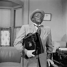 Jester Hairston as Henry Van Porter on Amos 'n' Andy show, 1951.