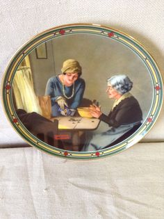"""Norman Rockwell - American Dream Series"""" collector plate """"A Family's Full Measure"""""""