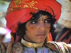 Yemen   Portrait of a youth, Souk Zabab. Taez region 1979
